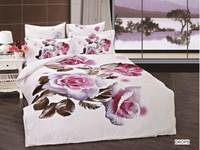 Двуспальное евро постельное белье ARYA DROPS, серия 3D Exclusive