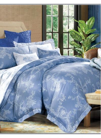 Двуспальное евро постельное белье Arya DUERA BLUE