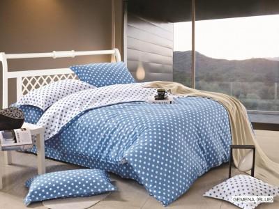 Двуспальное евро постельное белье Arya GEMENA BLUE