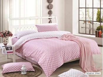 Двуспальное евро постельное белье ARYA GEMENA  PINK