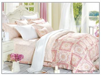 Двуспальное евро постельное белье ARYA  GOULETTE  PINK