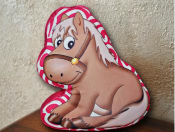 "Подушка-игрушка ""Лошадка"", розовая"