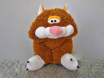 Подушка-игрушка Кот кучерявый рыжий