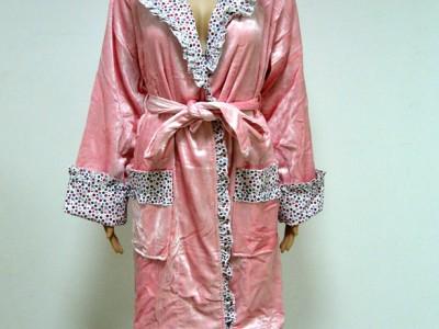 Халат женский бамбуковый Nusa NS-8300 розовый