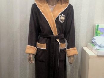 Халат мужской бамбуковый Nusa NS-7160 коричневый
