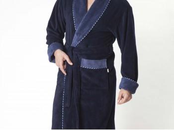 Халат мужской бамбуковый Nusa  NS-1140-1 синий