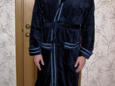 Халат мужской Nusa NS-2705 темно-синий