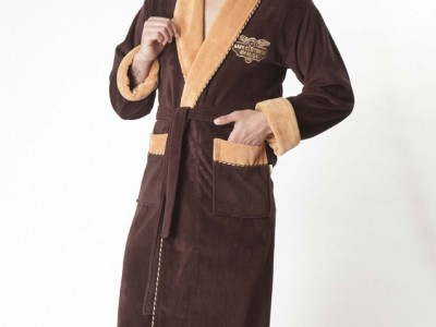 Халат мужской бамбуковый Nusa NS-1140-1 коричневый