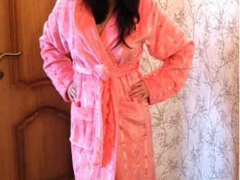 Халат женский Nusa NS-3520 розовый