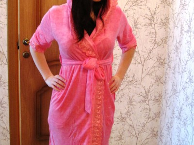 Халат женский бамбук Nusa NS-029 розовый
