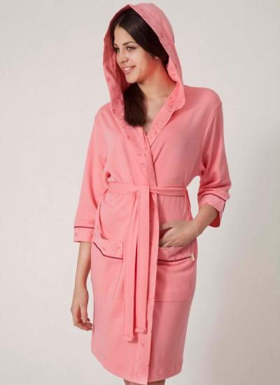 Халат женский бамбуковый Nusa NS-8265 розовый