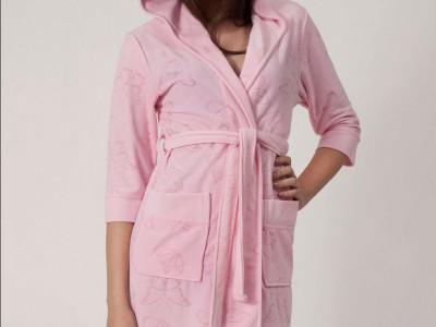 Халат женский бамбуковый Nusa NS-8210 розовый